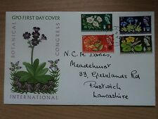 GB 1964 5 Aug Int'l Botanical Congress FDC First Day P/m Prestwich Manchester