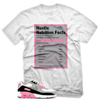 Hustle Facts T shirt For Nike Air Max 90 OG GREY ROSE PINK Mens & Womens T-shirt