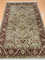 "5'5"" x 8'5"" Indian Agra Oriental Rug - Hand Made - 100% Wool"