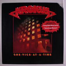 KROKUS: One Vice At A Time LP (cut corner, title toc, corner dings, promo stamp