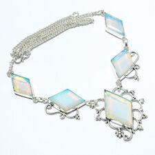 "Style Jewelry Necklace 18"" Lj Milky Opal, Milky Opal Handmade Ethnic"