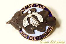 """VESPA IN METALLO-TARGHETTA """"VESPA-Club di Germania"""" - VCD emblema SMALTO EMAIL"""