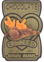 TY Beanie Babies BBOC Card - Series 3 Retired (GOLD) - CHOCOLATE the Moose -NM/M