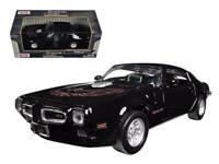 1973 Pontiac Firebird Trans Am Black 1/24 Diecast Model Car by Motormax