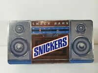 Snickers Candy Bar Tin Can Vintage 1989 Edition Stereo Boombox Design