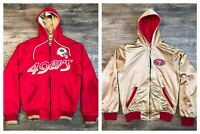 San Francisco 49ers Men's Small Game Time Reversible Red / Gold Hoodie 🚚FREE📦