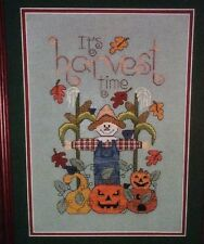 It's Harvest Time Cross Stitch Kit Scarecrow Pumpkin Fall Autumn Emily Oswald