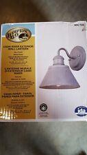Hampton Bay 1-Light Zinc Outdoor Wall Lantern Cann River.   / 411