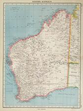 Antique Map Of Australia 1947 Western Perth Goldfields