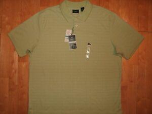 NEW w TAGS HAGGAR Work 2 Weekend XL Palm Green WAFFEL Design Pattern POLO Shirt