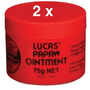 BEST PRICE! TWIN PACK LUCAS PAPAW OINTMENT CREAM PAW PAW HANDY 75G PROMOTION