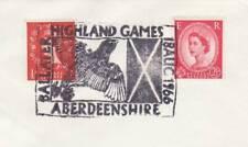 GB Stamps Souvenir Postmark Highland Games, Ballater, Eagle, bird, bagpipes 1966