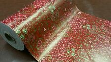 Full ream 18 inch wide Gilded Roses gift wrap 833 feet
