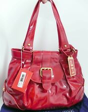 New Dooney Bourke Red Patent Leather Hayden Large Shoulder Bag