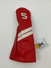 Sunfish Golf Bright Red 5 Fairway Wood Headcover LEATHER A022