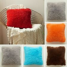 Fluffy Cushion Cover Furry Scatter Pillow Case Home Decor Sofa Couch Pillowcase