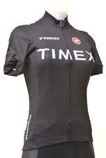 Castelli Timex Trek Short Sleeve Jersey Women MEDIUM Black Road Bike Triathlon
