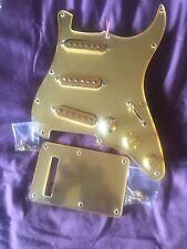 Stratocaster Guitar Gold Mirror Pickguard Set Fully Loaded 3-Alnico V P/ups New!