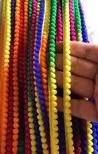 2 MTR encaje ajuste más recientes de la India Multicolor Pompón étnicos frontera Sari de cinta