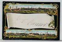 Germany Bitterfeld Multi View Factories Saxony-Anhalt c1900 Postcard K19