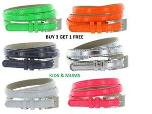Ladies waist belt size 10-12 girls belt thin Faux Leather belt,Fast Uk Shipping