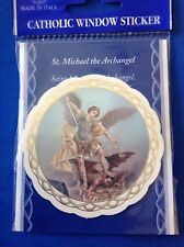 "ARCHANGEL ST MICHAEL Protection Catholic Window Sticker Color 3"" Made in Italy"