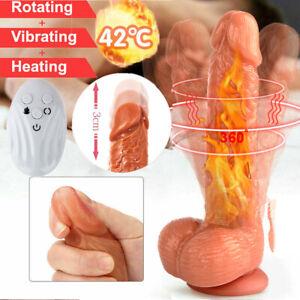 Strong Vibrating G Spot Vibrator Dildo Penis Women Sex Toys Rechargeable Heating