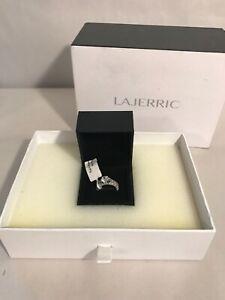 LaJerrio White Sapphire Cubic Zirconia Solitaire Ring Size 6. Brand New In Box.