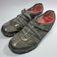 Womens Skechers Comfort Side Strap Fashion Sneaker Shoes Brass/beige Leather-8.5