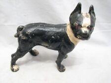 Early Cast Iron Boxer Dog Door Stop Boston Terrier Bull Dog Doggy Doorstop