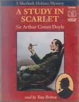 Arthur Conan Doyle A Study In Scarlet 2 Cassette Audio Book Sherlock Holmes