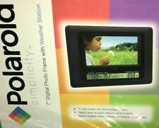 "POLAROID XSA-00770S 7"" Digital Photo Frame Built-In Weather Station w/ remote"