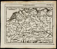 1723 - Carte ancienne de l'Allemagne (Saint-Empire Germanique). Géographie.
