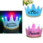 Hot Chic LED Light Birthday Party Hats Cap Crown Princess Birthday Decoration
