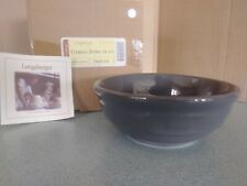 Longaberger Pottery Cereal bowl in Pewter Gray 26 oz Woven Traditions New in box