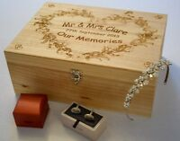 Wooden Wedding Memory Box - Personalised and Engraved - Wedding Gift