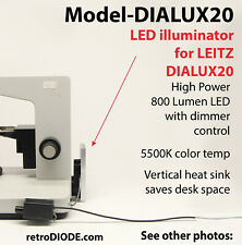 LED retrofit Kit with dimmer control for older LIETZ DIALUX-20 microscopes.