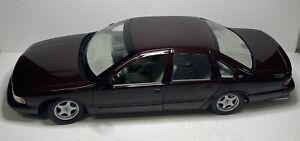 UT Models 1996 Chevy Impala SS 1:18 Scale Diecast Model Car Burgandy Chevrolet
