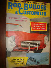 Oct. 1957 Rod Builder and Customizer How to put a Chevy V-8 in your Ford