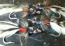 TARPON FINGER MULLET WHITE/RED/GREY 3/0 SALTWATER FLY FISHING FLIES