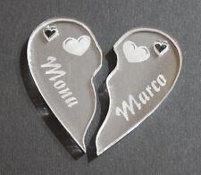 Schlüsselanhänger Acryl Partner Herz Namen Foto Logo Motiv