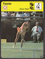KERRY REID Australia Tennis Player Photo 1979 SPORTSCASTER CARD 69-14B