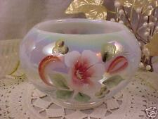 New French Opalescent ROSE BOWL by Fenton Glass