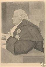 """John Kay, British, """"The Sleeping Judge"""", 18th C, Original Etching"""