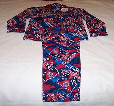 Melbourne Demons Logo AFL Boys Camo Printed Flannel Pyjama Set Size 10 New