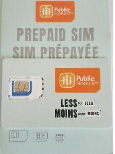 PUBLIC MOBILE Prepaid SIM CARD - CANADA  with $10 bonus