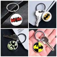 Comic Superhero Batman Logo keychain Silver Keyring Pendants Keychains Gifts