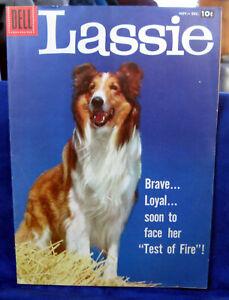 vintage Lassie Comic 1957 # 37  near mint NM