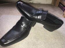 Calvin Klein Bartley Diamond Leather Dress Shoes - Men's Size 9 M , Black