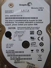 160 GB Seagate ST9160310AS / 9EV132-500 / SD03 / WU / 100513491 RevA *